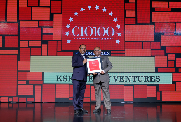 The Digital Architect: G S Rao, CIO at KSK Energy Ventures receives the CIO100 Award for 2018
