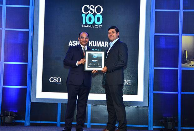 Ashok Kumar N, Chief Information Security Officer, Amazon (AWS) receives the CSO100 Award for 2017.