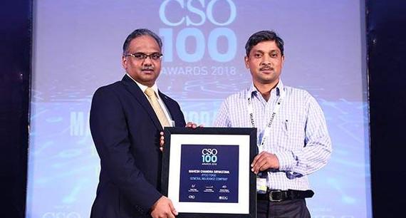 Mahesh Chandra Srivasta, GM-IT, IFFCO TOKIO General Insurance Company receives CSO100 Award for 2018