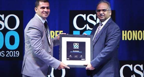 Dr JS Sodhi, senior VP at Amity Education Group receives the CSO100 Award for 2019