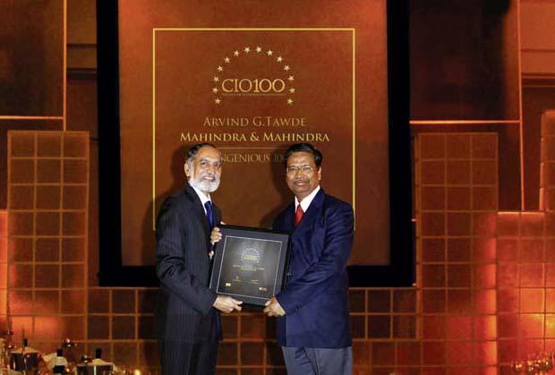 The Ingenious 100: Arvind Tawde, Head-IT, Mahindra & Mahindra receives CIO100 Awards for 2009