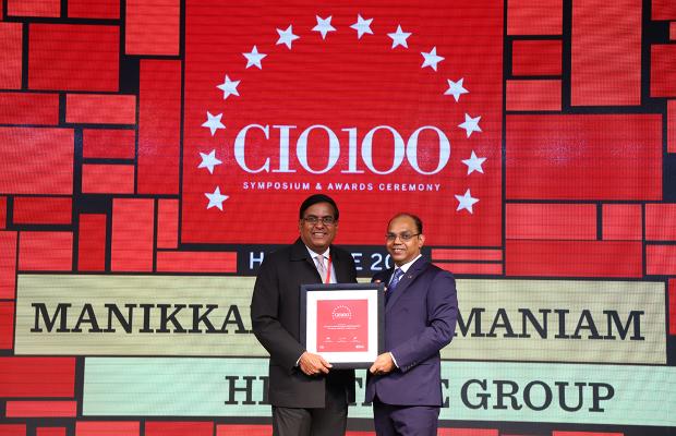 The Digital Architect: Manikkam Subramaniam, Senior Vice President at Heritage Group receives the CIO100 Award for 2018