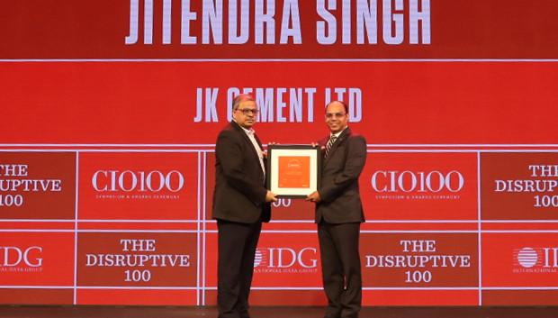 The Disruptive 100: Jitendra Singh, CIO, JK Cement receives the CIO100 Award for 2019