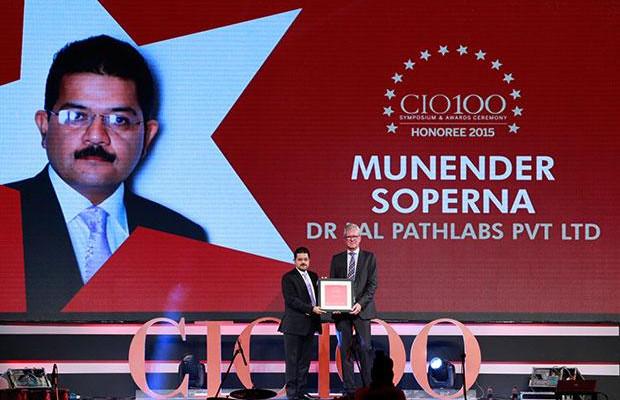 The Versatile 100: Munender Soperna, CIO, Dr. Lal Pathlabs receives the CIO100 Award for 2015