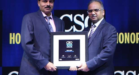 Biju John, Sr. General Manager of Wockhardt, receives the CSO100 Award for 2019
