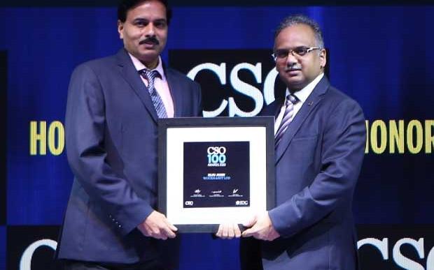 Biju John, Sr. General Manager of Wockhardt, receives the CSO100 Award for 2019