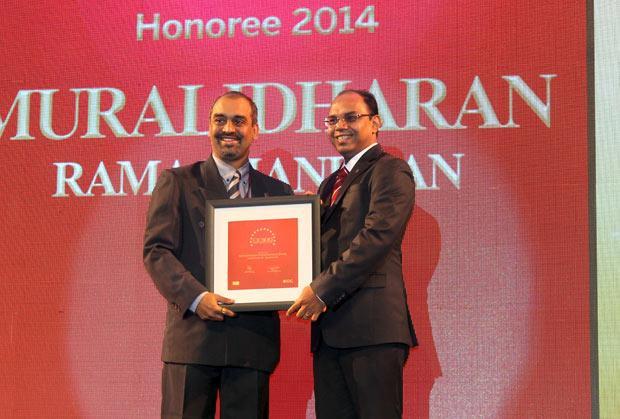 The Dynamic 100: Muralidharan Ramachandran, CIO, Syntel International receives the CIO100 Award for 2014