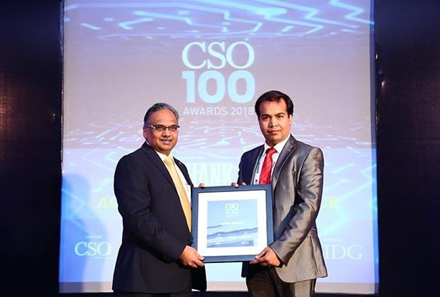 Subhanil Banerjee, Senior Manager-IT Infrastructure and Security at ABP receives the CSO100 Award for 2018