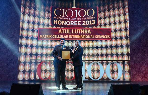 The Astute 100: Atul Luthra, Vice President - IT of Matrix Cellular International receives the CIO100 Award for 2013