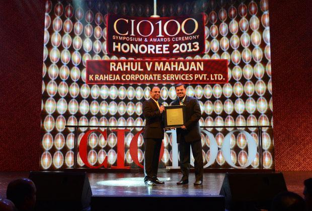 The Astute 100: Rahul Mahajan, VP-IT of K Raheja receives the CIO100 Award for 2013