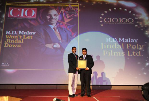 The Creative 100: R D Malav, VP - IT of Jindal Group receives the CIO100 Award for 2011