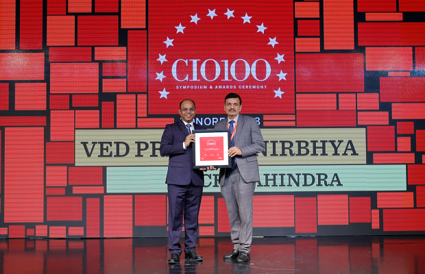 The Digital Architect: Ved Prakash Nirbhya, CIO, Tech Mahindra, receives the CIO100 award for 2018