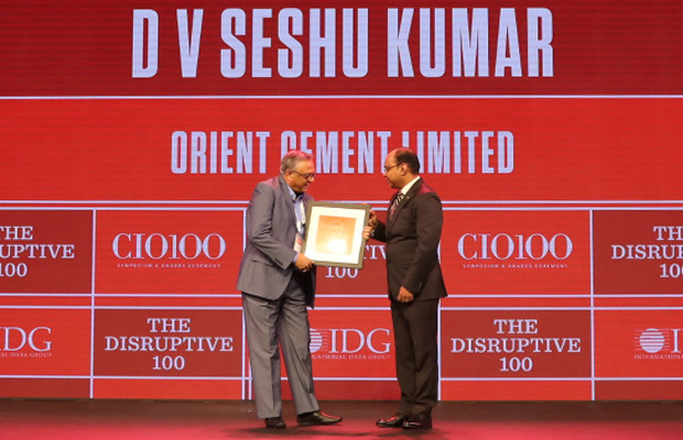 The Disruptive 100: D V Seshu Kumar, Assistant VP and IT head at Orient Cement receives the CIO100 Award for 2019