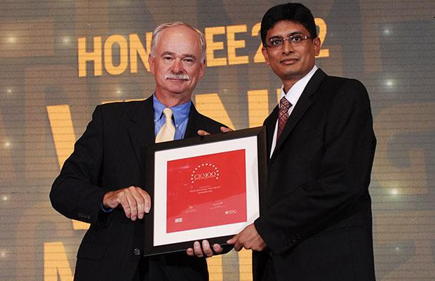 The Resilient 100: Venu Gopal Madduri, Group VP IT of NSL Group receives the CIO100 Award for 2012