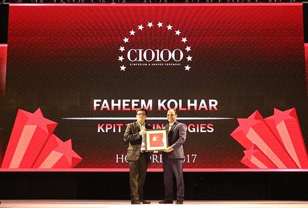 The Digital Innovators: Faheem Kolhar, Director IT, KPIT Technologies receives the CIO100 Award for 2017