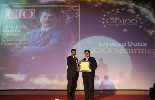 The Creative 100: Joydeep Dutta, CTO at ICICI Securities receives the CIO100 Award for 2011