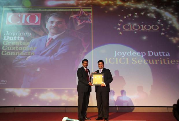The Creative 100: Joydeep Dutta, CTO at ICICI Securities receives the CIO100 Award for 2011