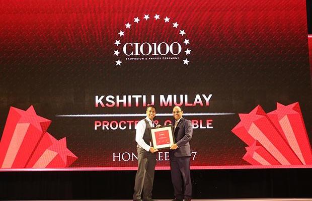 The Digital Innovators: Kshitij Mulay, India CIO, Procter & Gamble receives the CIO100 Award for 2017.