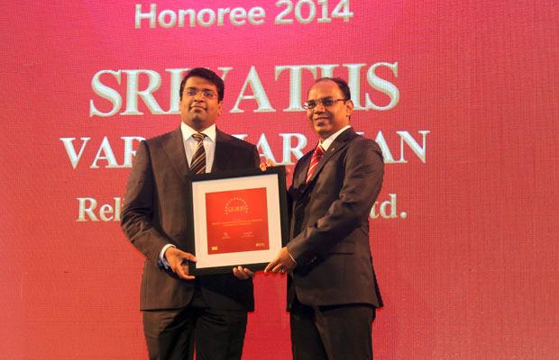 The Dynamic 100: Srivaths Varadharajan, CTO, Reliance Securities receives the CIO100 Award for 2014