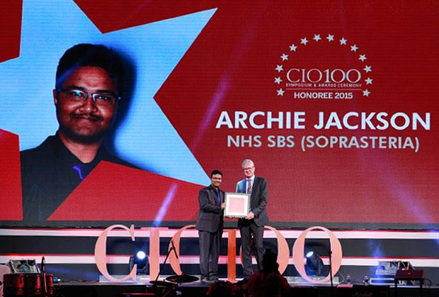 The Versatile 100: Archie Jackson, GM IT of NHS SBS receives the CIO100 Award for 2015