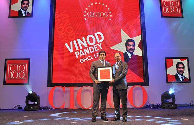 The Transformative 100: Vinod Pandey, Head IT-Inorganic Chemicals, GHCL receives the CIO100 Award for 2016