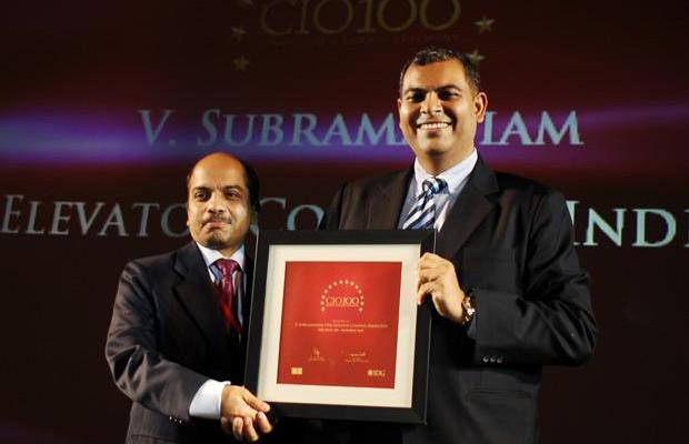 The Agile 100: V Subramaniam, Director-IT & CIO, South Asia Pacific, UTC Building & Industrial Systems (Otis Elevator Company) receives the CIO100 Award for 2010