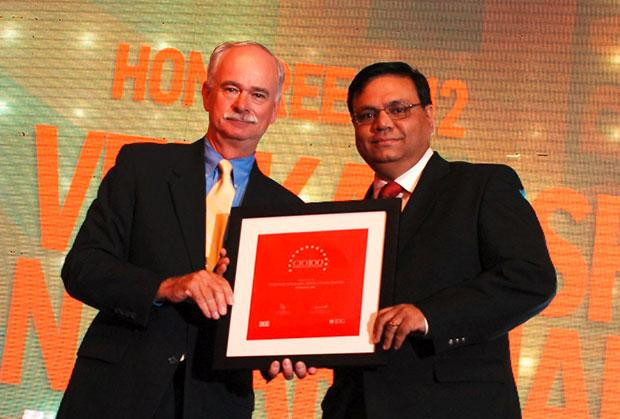 The Resilient 100: Venkatesh Natarajan, Special Director-IT of Ashok Leyland receives the CIO100 Award for 2012