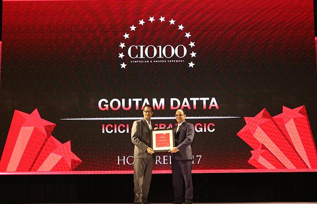 The Digital Innovators: Goutam Datta, VP-Technology at ICICI Lombard General Insurance Company receives the CIO100 Award for 2017