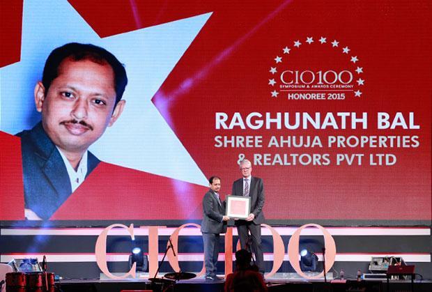 The Versatile 100: Raghunath Bal, Head-IT, Shree Ahuja Properties and Realtors receives the CIO100 Award for 2015