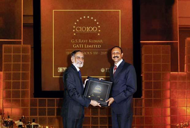 The Ingenious 100: G S Ravi Kumar, CIO of Gati receives the CIO100 Award for 2009