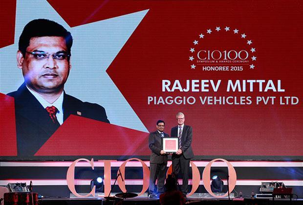 The Versatile 100: Rajeev Mittal, HEAD IT&IS Piaggio Vehicles receives the CIO100 Award for 2015