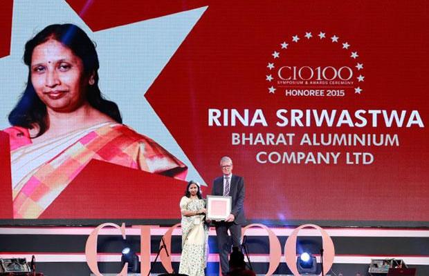 The Versatile 100: Rina Sriwastwa, Head- IT of Bharat Aluminium receives the CIO100 Award for 2015