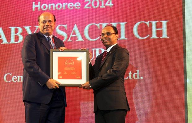 The Dynamic 100: Sabyasachi Ch Thakur, Head - SAP & IT, Century Plyboards receives the CIO100 Award for 2014
