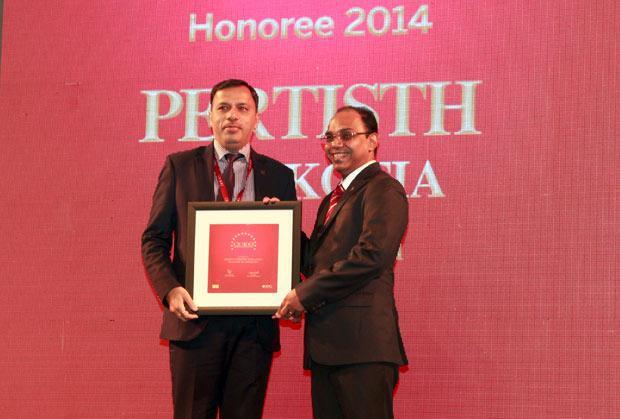 The Dynamic 100: Pertisth Mankotia, Head - IT of Sheela Foam (Sleepwell) receives the CIO100 Award for 2014