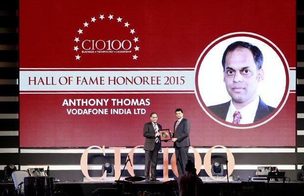 Hall of Fame: Anthony Thomas, CIO, Vodafone India receives the CIO100 Special Award for 2015