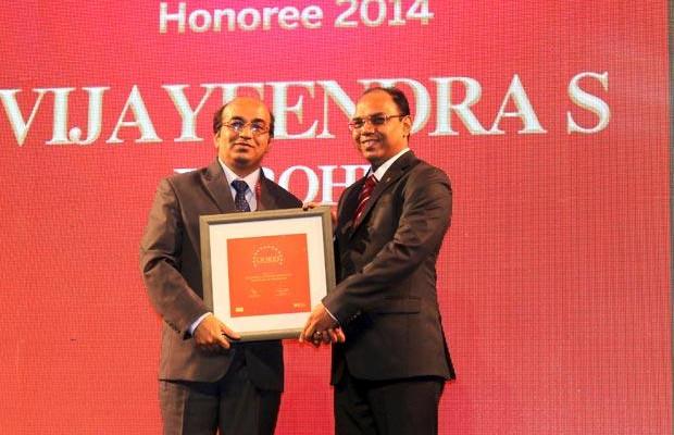 The Dynamic 100: Vijayeendra Purohit, AVP Corporate Networking of Infosys receives the CIO100 Award for 2014