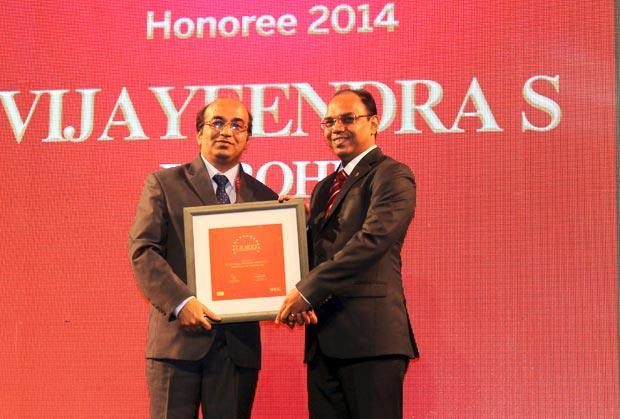 The Dynamic 100: Vijayeendra Purohit, AVP Corporate Networking of Infosys receives the CIO100 Award for 2014