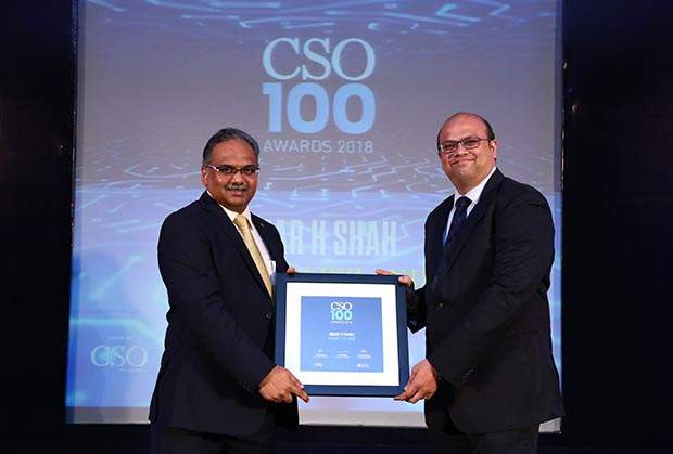 Amar H Shah, CISO, Ashok Leyland receives the CSO100 Award for 2018