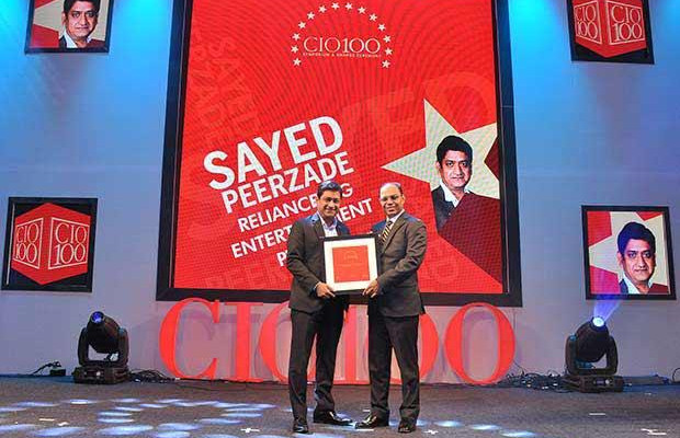 The Transformative 100: Sayed Peerzade, VP-Technology of Reliance Big Entertainment receives the CIO100 Award for 2016