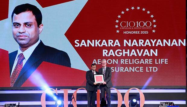 The Versatile 100: Sankaranarayanan Raghavan, COO of Aegon Religare Life Insurance receives the CIO100 Award for 2015