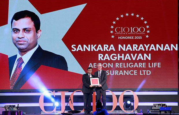 The Versatile 100: Sankaranarayanan Raghavan, COO of Aegon Religare Life Insurance receives the CIO100 Award for 2015