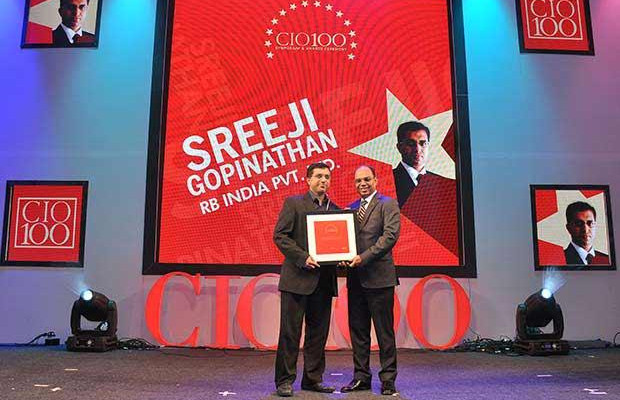 The Transformative 100: Sreeji Gopinathan, Regional IS Director of RB India receives the CIO100 Award for 2016