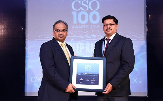 Kuldeep Kaushal, VP - Information Security and CISO at Moody's Analytics Knowledge Services receives the CSO100 Award for 2018