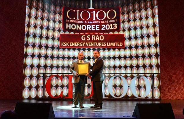 The Astute 100: G S Rao, CIO of KSK Energy Ventures receives the CIO100 Award for 2013