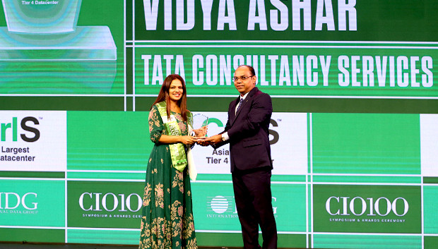 Business Transformer: Vidya Ashar, Global Head-Talent Management, Tata Consultancy Services receives the CIO100 Special Award for 2019