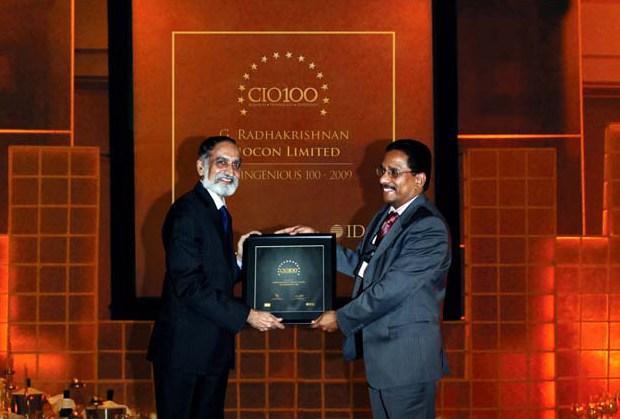 The Ingenious 100: Radha Krishnan Menon, IT Head of Biocon receives the CIO100 Award for 2009