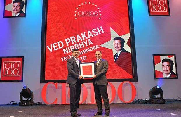 The Transformative 100: Ved Prakash Nirbhya, CIO at Tech Mahindra felicitated with the CIO100 Award for 2016