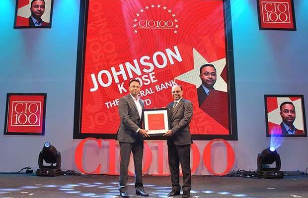 The Transformative 100: Johnson K Jose, Deputy GM of The Federal Bank receives the CIO100 Award for 2016