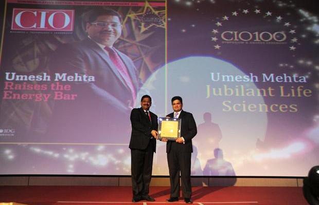 The Creative 100: Umesh Mehta, CIO-India of Jubilant Life Sciences receives the CIO100 Award for 2011