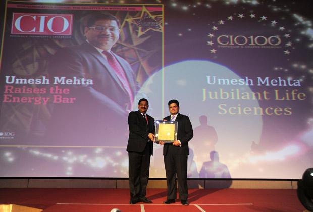The Creative 100: Umesh Mehta, CIO-India of Jubilant Life Sciences receives the CIO100 Award for 2011